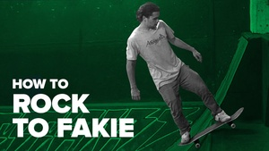 Как сделать Rock to Fakie на скейте (How to Rock to Fakie Skateboard)