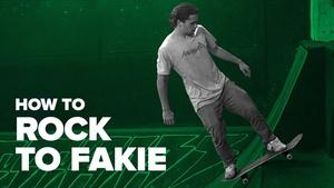 Как сделать Rock to Fakie на скейте (How to Rock to Fakie Skateboard)