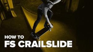 Как сделать fs crailslide на скейтборде (How to fs crailslide on skateboard)